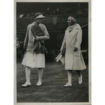 1929 Press Photo Miss D'Alvarez & Helen Willis at Wimbledon tennis - nes42635