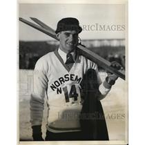 1931 Press Photo Harald Sorenson of Norsemen Ski Club at Orange County NY