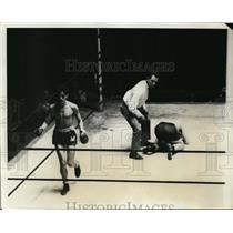 1931 Press Photo Sol Resignola vs John Spiak at Amateur boxing in NYC