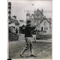 1936 Press Photo Sir John Simon at St Andrews golf course in Scotland