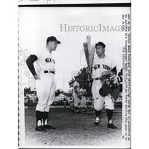 1961 Press Photo Yankee catcher Yogi Berra & manager Ralph Houk in Florida