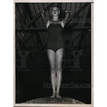 1937 Press Photo Patricia Robinson at AAU Dive championships San Francisco