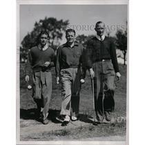 1937 Press Photo Golf Open at Belmont club Chicago, Jim Thomson, Dick Metz