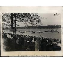 1928 Press Photo Columbia crew wins Childs Cup regatta at Lake Carnegie NJ