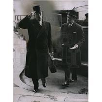 1937 Press Photo M Van Zeeland Belgian Premier at Foreign office in London