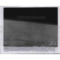 1955 Press Photo High altitude view of Earth from Winzen Research Inc balloon