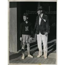 1934 Press Photo Victor Krulak Captain Varsity Navy crew & coach Buck Walsh