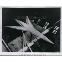 1952 Press Photo Ames Aeronautical Lab testing of aircraft wings in air tunnel