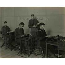 1919 Press Photo Blind People Learning to Type - nex33173