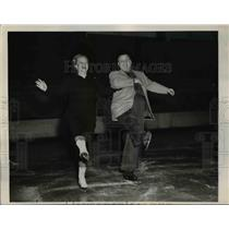 1949 Press Photo Old Smoothies Irma Thomas and Orrin Markhus in Ice Capades