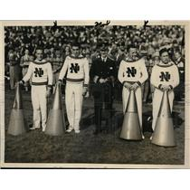 1927 Press Photo Navy cheer squad M Gruder, PR Anderson, W Walsh,JN Boyd