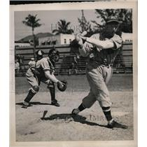 1941 Press Photo Ned Harris at Tiger training camp in West Palm Beach Fla