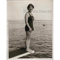 1935 Press Photo Janice Lifsom winner of 10 foot fancy dive at AAU Championship