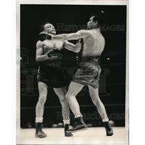 1939 Press Photo Petey Scalzo vs Simon Chavez at Madison Square Garden
