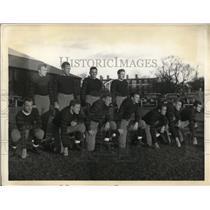 1934 Press Photo Princeton football Dave Chamberlain, Frank John, Andre McBaugh