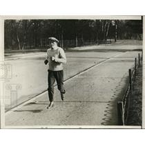 "1929 Press Photo Emile ""Spider"" Pladner, World Flyweight Champ, during workout"