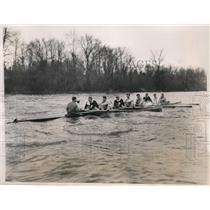 1934 Press Photo Princeton crew Aikman Armstrong, Walter Pflaumer - nes45017
