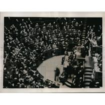 1936 Press Photo Premier Albert Sarraut of France Denounces Hitler Peace Offer