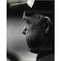 1953 Press Photo Brewers Harvey Kuehn at Comiskey park vs White Sox - nes45307