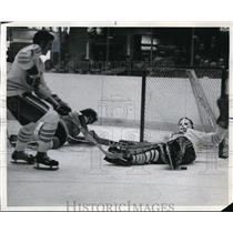 1973 Press Photo Jim Watson of Cougars hockey in his first game - nes45947