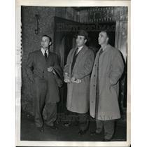1943 Press Photo Stan Spence, Dutch Leonard, George Case of Washington Senators