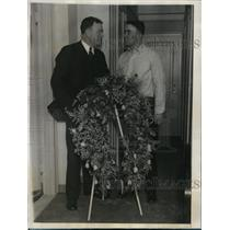 1927 Press Photo Manager Dan Carroll & boxer Jim Maloney at Long Branch NJ