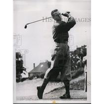 1937 Press Photo Henry Cotton in Coronation Golf at Moor Park club England