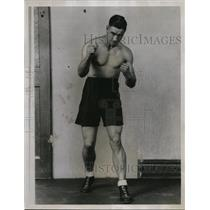 1935 Press Photo Ambrose Palmer Australian boxer to come to the US - nes46106