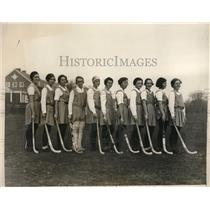 1930 Press Photo All-Philadelphia Girls Hockey Team - nes23434