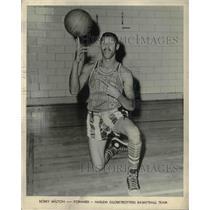 1961 Press Photo Bobby Milton, forward for the Harlem Globetrotters - ors01063