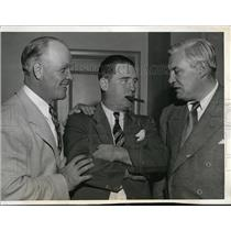 1943 Press Photo Hunk Anderson, Arthur Rooney and Jimmy Conzelman - nes24047