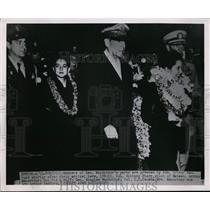 1951 Press Photo General Douglas MacArthur, Adm Arthur Radford - nem31704