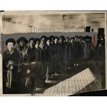 1924 Press Photo Japanese & wives arrive in San Francisco before immigration ban