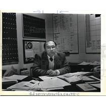 1984 Press Photo Jon Richardson Portland Beaver's Low-key Vice President