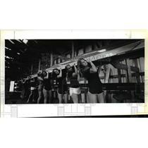 1978 Press Photo Women's crew at Lewis & Clark College - orb39208