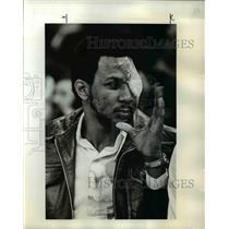 1976 Press Photo Portland Trail Blazer forward Lloyd Neal watched NBA action
