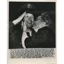 1952 Press Photo Aviation Cadet Paul Ed Shortal Jr & aunt Lt Col Hazel Shortal