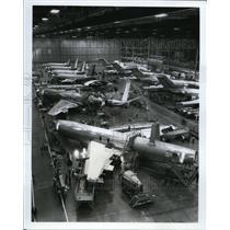 1978 Press Photo USAF AWACs planes built at Boeing plant in Renton WA
