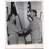 1951 Press Photo General Mark Clark & deputy General Robert  Macon in VA