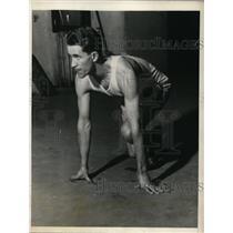 1927 Press Photo George Lenniso NY Athletic Club track 600 yard race win