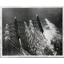 1938 Press Photo Cambridge crew training against Oxford crews