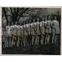 1938 Press Photo Members of the Bryn Mawr women's college hockey team