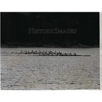 1935 Press Photo Jr varsity crew as Harvard loses vs Navy at Adams Cup regatta