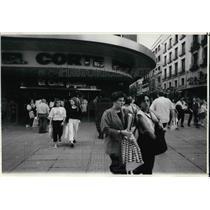 1989 Press Photo El Corte Ingles Department store in downtown Madrid, Spain