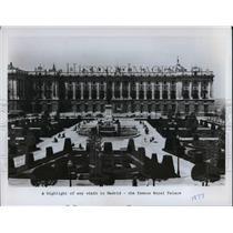 1977 Press Photo The famous Royal Palace in Madrid, Spain - cva22813