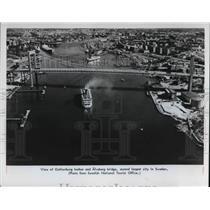 1978 Press Photo The Gothenburg harbor and Alvsborg bridge - cva22105
