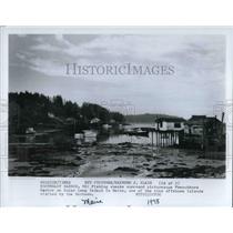 1978 Press Photo Northeast Harbor in Maine's fishing shacks at Frenchboro Harbor