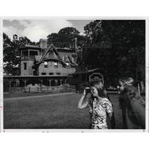 1981 Press Photo The Mark Twain House in West Hartford in Connecticut