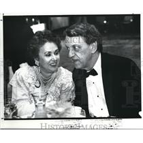 1989 Press Photo Linda and Fred Griffith at the Red Cross Dinner at Marriott