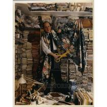 1997 Press Photo Mario Buatta with his Fabric designs - cva20764